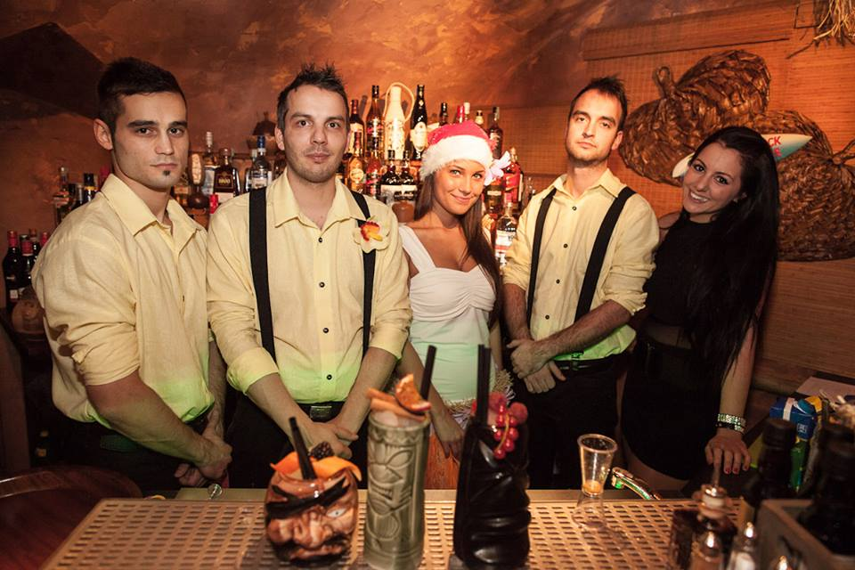 The Rumpus Tiki Bar Team. Mr. Zsolt Tarjànyi is second from the left.