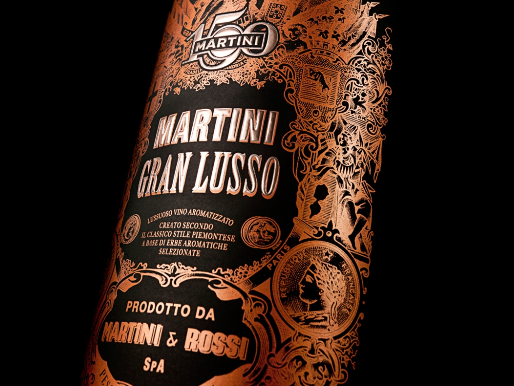 The spectacular Gran Lusso Vermouth by Martini
