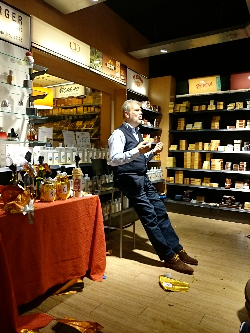 Frank Evens explaining about spirits