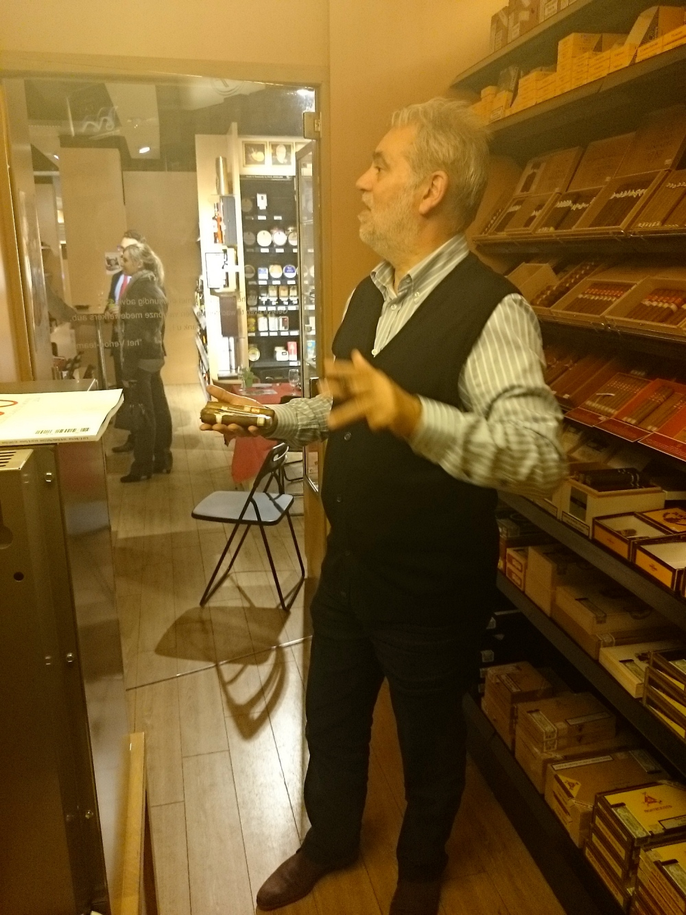 Frank's enormous humidor