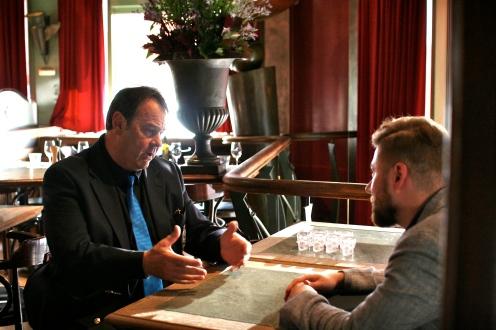 Dan discussing vodka, diamonds and ufos