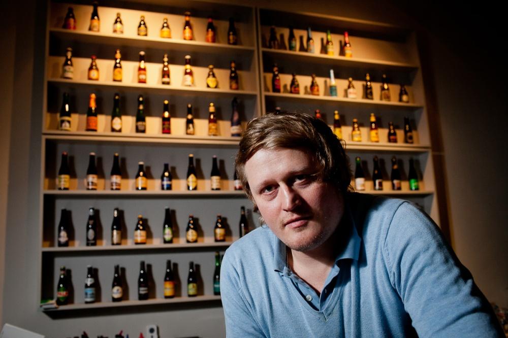 Bart Neirynck, a Belgian beer ambassador in Berlin. Photo by Jan Zappner