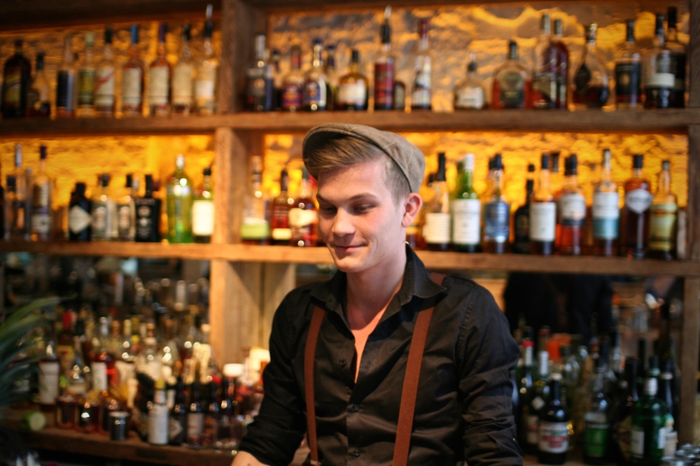 Bassche, second Dogma bartender in the finals, gave a daring presentation with not too subtle thematics, but an extremely quaffable drink!