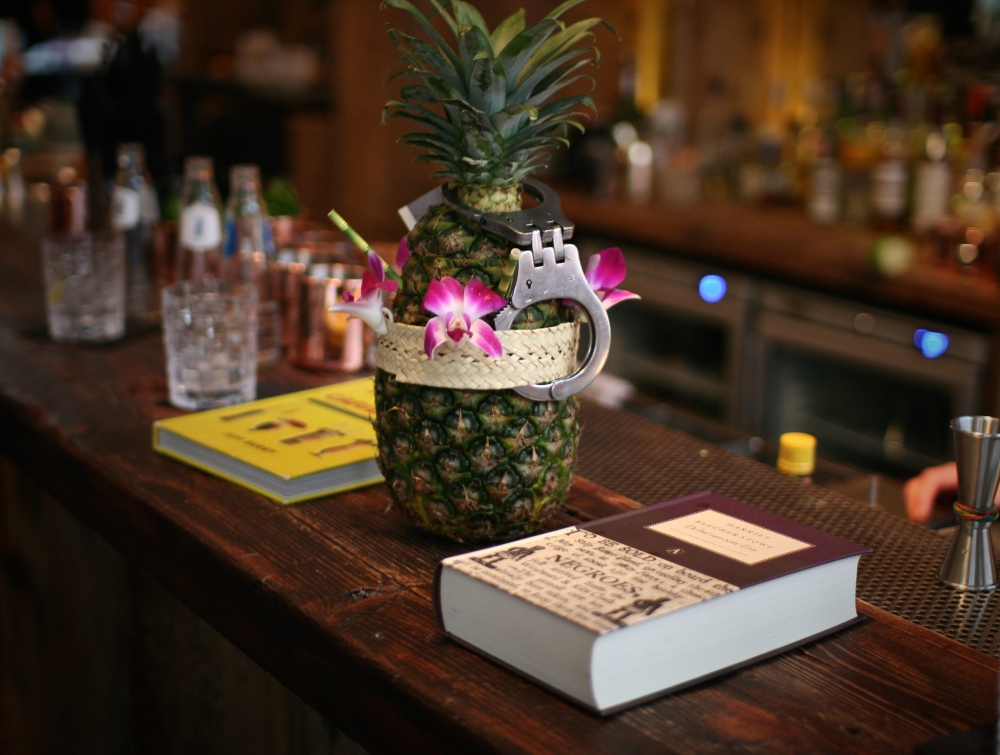 Handcuffed pineapple grenade...one word: booom!